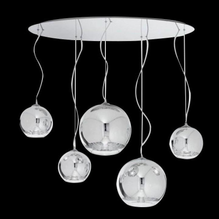 h ngelampe 5 flammig 105cm h ngelampen glas. Black Bedroom Furniture Sets. Home Design Ideas