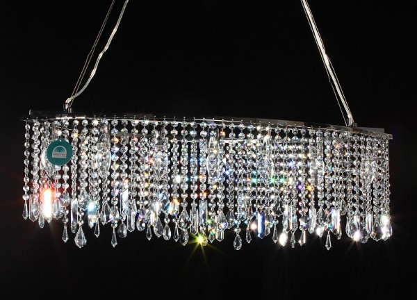 90cm pendelleuchte gefertigt mit spectra crystal von swarovski h ngelampen swarovski. Black Bedroom Furniture Sets. Home Design Ideas
