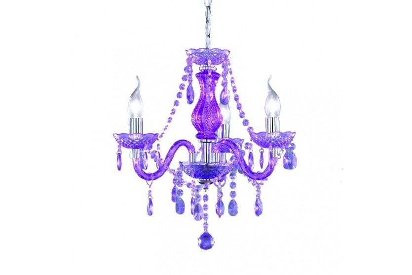reality trio acryl kronleuchter l ster 3 flammig lila kronleuchter acryl. Black Bedroom Furniture Sets. Home Design Ideas
