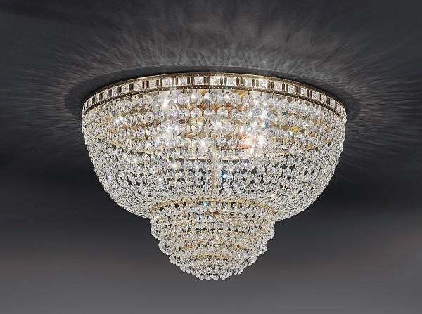 kristall deckenlampe 50cm vergoldet od silberfarben. Black Bedroom Furniture Sets. Home Design Ideas